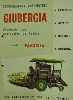Giubergia Favorita combine brochure