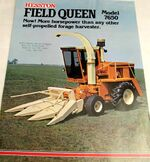Hesston 7650 Field Queen forage harvester brochure
