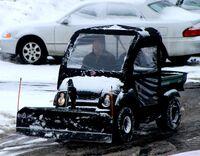 Kawasaki Mule snow removal
