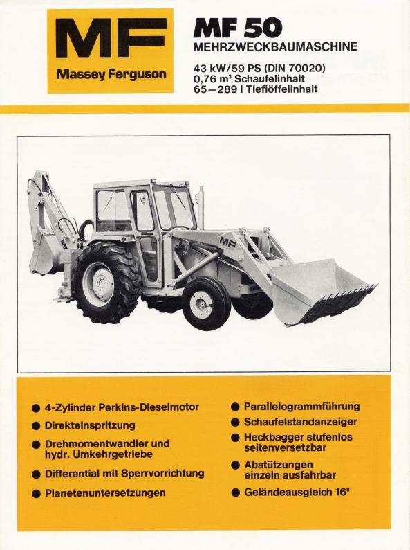 Massey Ferguson 50 backhoe | Tractor & Construction Plant
