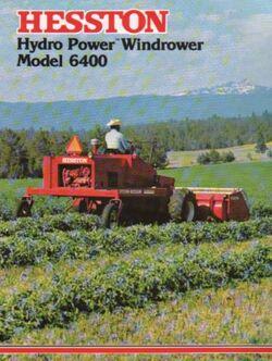Hesston 6400 swather brochure