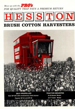 Hesston SP-55C cotton picker brochure