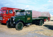 A 1930s Thornycroft Bulldog Lorry preserved