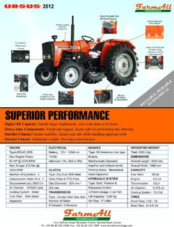 Ursus 3512 (FarmAll) brochure - 2008
