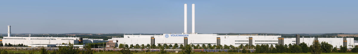 Panorama of the Volkswagen Mosel-Zwickau factory