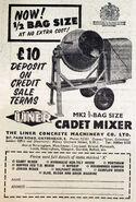 A 1950s LINER Cadet Cementmixer model