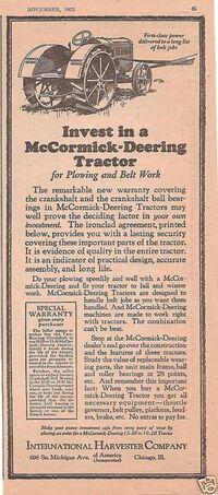 Nov, 1923 McCormick-Deering advert