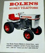 Bolens Husky 1050 ad - 1974