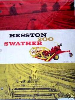 Hesston 200 swather brochure - 1958