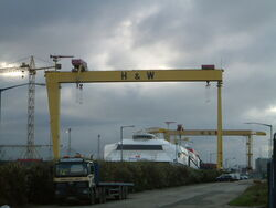 Harland and Wolf Goliath cranes