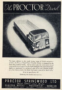 A 1940s Proctor Lorry Diesel 6 Ton