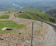 Snowdon Mountain Railway steep descent