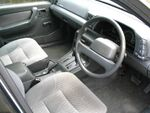 Grey automobile interior