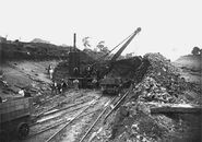 A 1940s Whitaker Brothers Railway Steam Excavator working