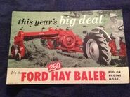 Ford 250 hay baler