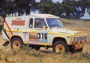 PORTARO 260D 4X4 Rallycar no Baja Todoterreno Portalegre de 1986