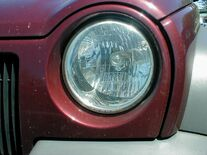 Headlight reflector optics