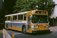 Portland AM General bus in 1984