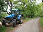 Tractor on Ridge Lane - geograph.org.uk - 802657