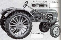 Hanomag R 24 b&w brochure - 1955