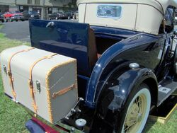 1931 Ford Model A roadster rear