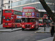 Arriva London Routemaster bus RML2752 (SMK 752F) route 159 last day 9 Dec 2005