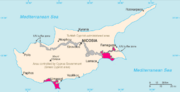 Map showing Akrotiri and Dhekelia in Cyprus