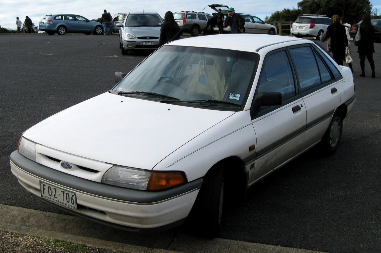 1991–1994 Ford KH Laser GL hatchback.|frameless|upright=1.25|alt=]]