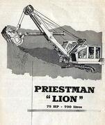 A 1960s Priestman Brothers Lion Excavator Diesel
