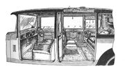 Limousine interior view (Montagu, Cars and Motor-Cycles, 1928)