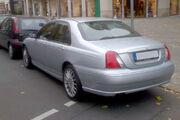 MG ZT sedan silver rear