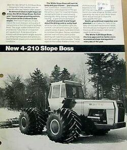 White 4-210 Slope Boss 4WD b&w