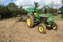 John Deere 2030 - DEB 134M + JD 360 combine at Barleylands 2011 - IMG 6171
