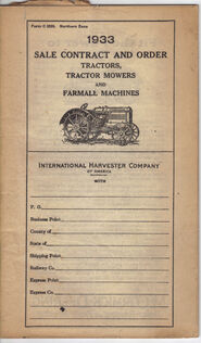 1933 Sale Contract & OrderGuide