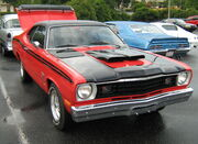 1973 Duster red - front