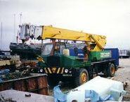 ALLEN T6 Cranetruck 4X2 in a boatyard