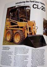 Ford CL25 skid-steer brochure - 1983