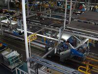 Hyundai car assembly line