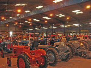 Somerset Vintage and Classic Tractor show- main hall- DSC01627 edited