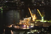Night Nagasaki shipyard