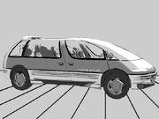 mockup of the 1986 Pontiac Trans Sport concept car