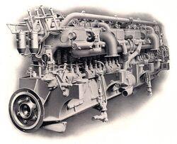 Wolseley 12 cylinder 360hp petrol or oil marine engine (Rankin Kennedy, Modern Engines, Vol III)