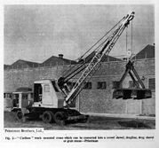 A 1950s Priestman Brothers Caribou Diesel Cranetruck