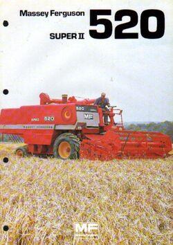 MF 520 Super II combine brochure
