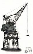 A 1970s Smith Of Rodley Dockside Crane Diesel