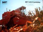 MF 540 combine brochure - 1979