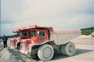 A 1970s pair of Aveling Barford Centaur 50 Dumptrucks