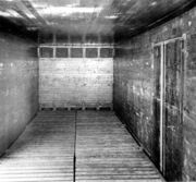 Interior of ice bunker reefer