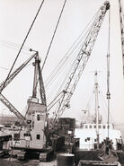 A 1960s NCK Harbour Crawlercrane 60T