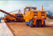 A 1980s Aveling Barford Pneumatic PM Tyred Roadroller Diesel
